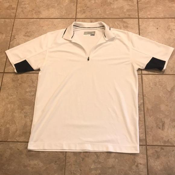 2639640f Cutter & Buck Shirts | White And Black Cutter Buck Polo Shirt | Poshmark